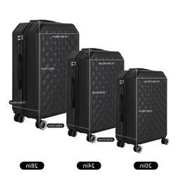 "20 24 28"" 3pcs Luggage Travel Set Bag ABS Trolley Hard Shell"