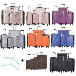 Set of 3/4/5 Travel Luggage Sets Carry On Hardshell ABS Spin