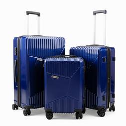 3 PCs Luggage Set TSA Lock Travel Trolley Suitcase Lightweig