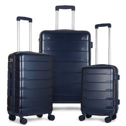 3 Piece  Luggage Cases  PC+ABS Spinner Suitcase 20 inch 24 i