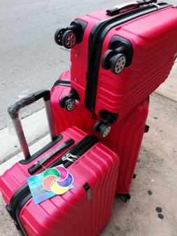 3 Pieces luggage Set New Top Quality TSA Lock 4 Wheels Spinn