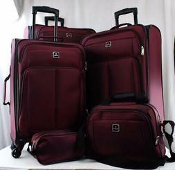 $300 TAG Daytona 5 Piece Set Travel Suitcase Expandable Spin