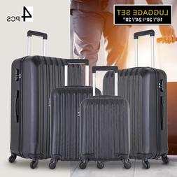 4 Piece Luggage Set Trolley Travel Suitcase ABS Hardside Nes