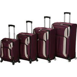 Rockland Luggage 4 Piece Quad Spinner Luggage Set
