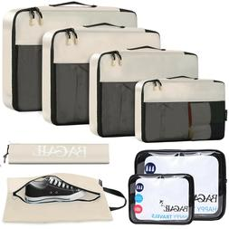 BAGAIL 6 / 8 Set Packing Cubes Luggage Packing Organizers fo