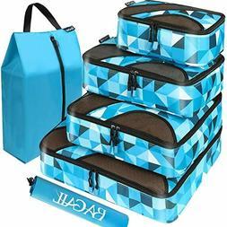 BAGAIL 6 Set Packing Cubes,Travel Luggage Packing Organizers