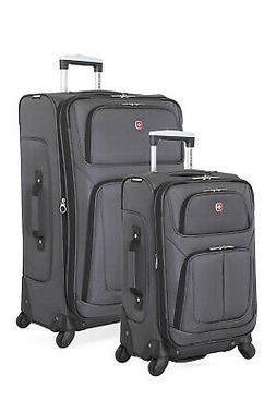 Swissgear 6283 Expandable 2pc Spinner Luggage Set - Dark Gra