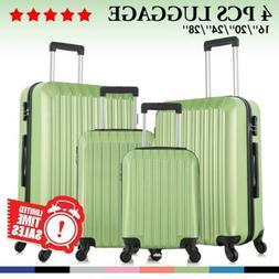 Set of 4 Luggage Set ABS Lightweight Travel Hard case Suitca