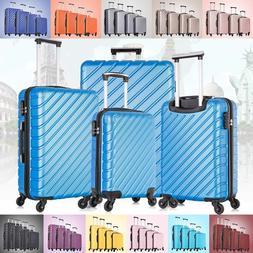 3 & 4  Piece Hardcase Luggage Set Travel Bag Trolley Spinner
