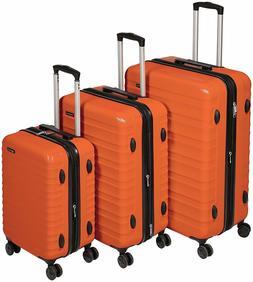 AmazonBasics Hardside Spinner Luggage - 3 Piece Set , Burnt