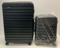 AmazonBasics Hardside Spinner Luggage - Multi-Piece Set Blac