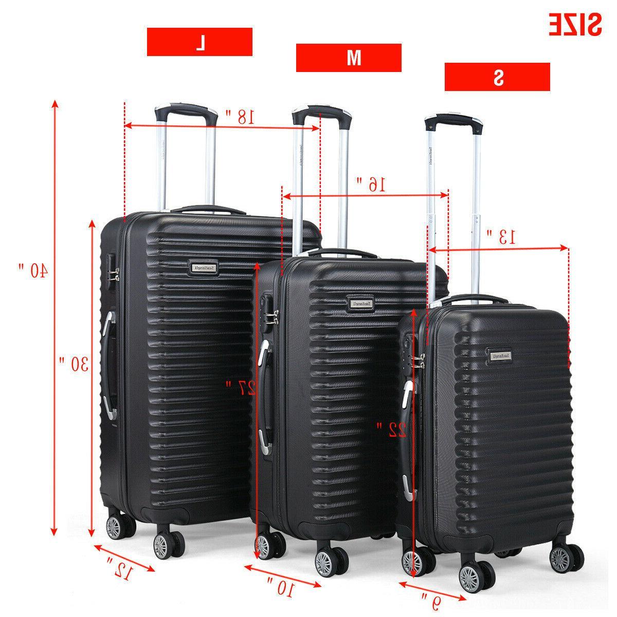 """3 Travel Bag Trolley 22"""" 30"""""""