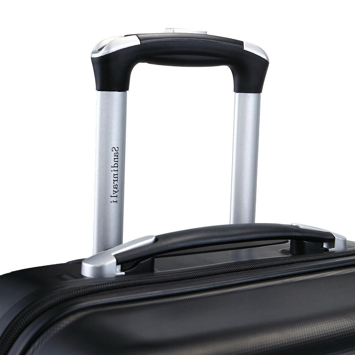 "3 Travel Bag Trolley 30"" w/Cover Black"