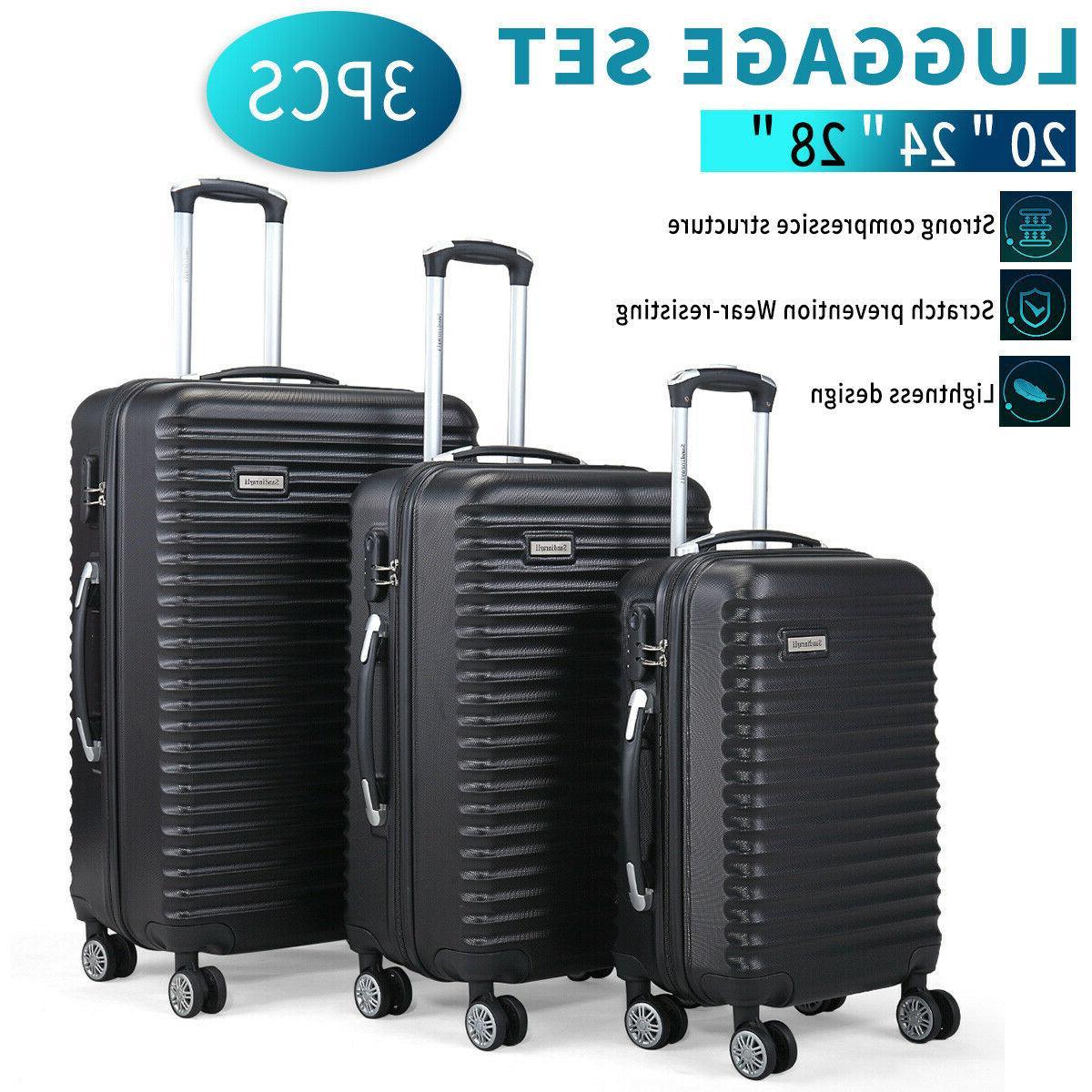 3 pcs set luggage travel bag carry