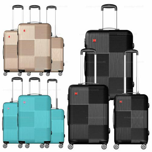3 piece hardside luggage set with spinner