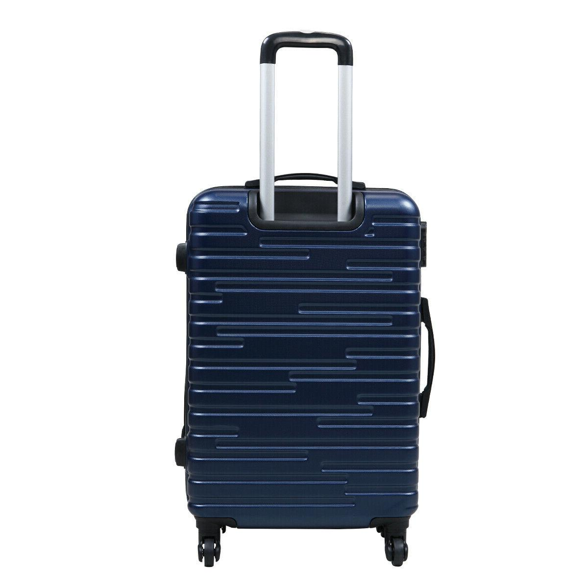 3 Luggage Travel Blue ABS+PC Nested Spinner w/