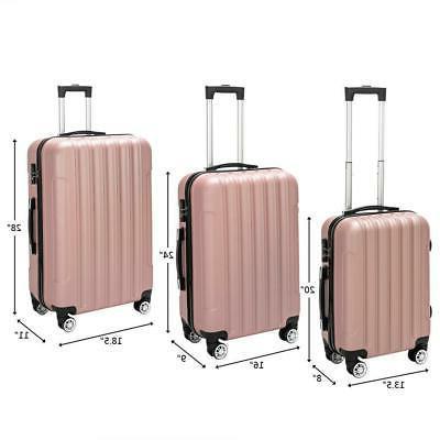 3PCS Luggage Travel Bag Suitcase TSA