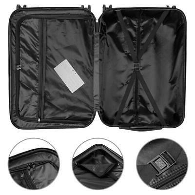 3PCS Luggage Travel Bag ABS Suitcase