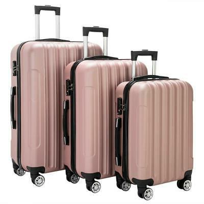 3PCS Bag Lightweight ABS Suitcase TSA