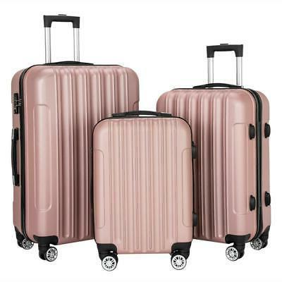 3pcs luggage set travel bag lightweight abs