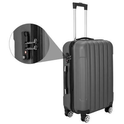 Hardside 3 Piece Spinner Suitcase Luggage Set w/ TSA