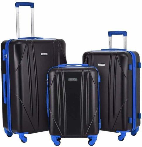 2/3 Luggage Set Travel ABS+PC Hardside Nested Spinner