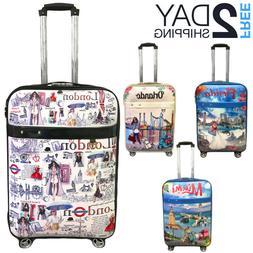 "Luggage 25"" Suitcase Trolley Wheeled Spinner Travel Set Ba"
