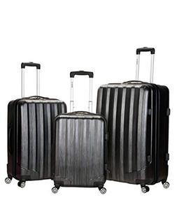 Rockland Luggage Metallic 3 Piece Hardside Spinner Set