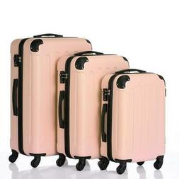 New 3x Travel Spinner Luggage Set Bag ABS Trolley Carry On S
