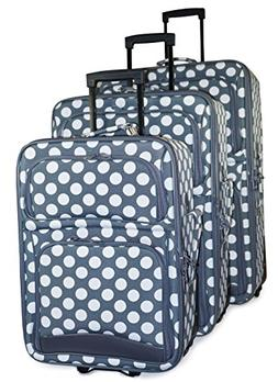 Ever Moda Polka Dot Luggage Set