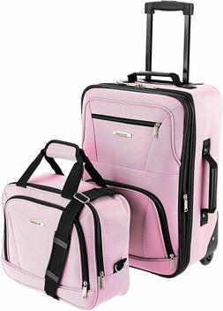 Rockland Luggage 2 Piece Set, Flight Travel Bag, Heavy Duty