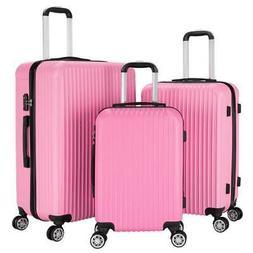 "Set of 3 Travel Luggage Set Soft Suitcase Bag Trolley 20"" 24"
