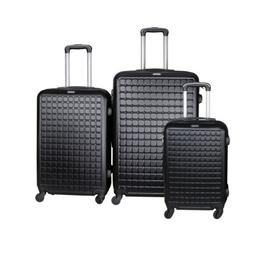 Suitcase Lightweight Luggage With Spinner Wheels, 3-Piece Se