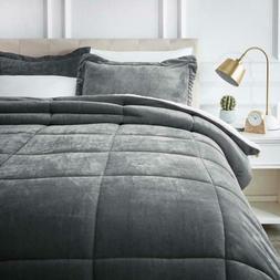 AmazonBasics Ultra-Soft Micromink Sherpa Comforter Bed Set -