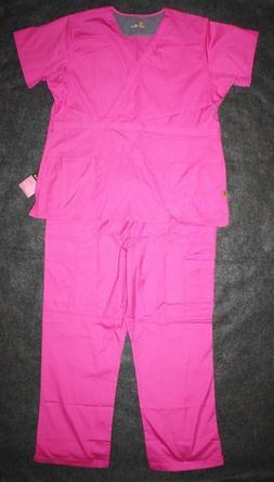 Carhartt Womens Medical Scrubs Set Ripstop 2 Piece Pink Plus
